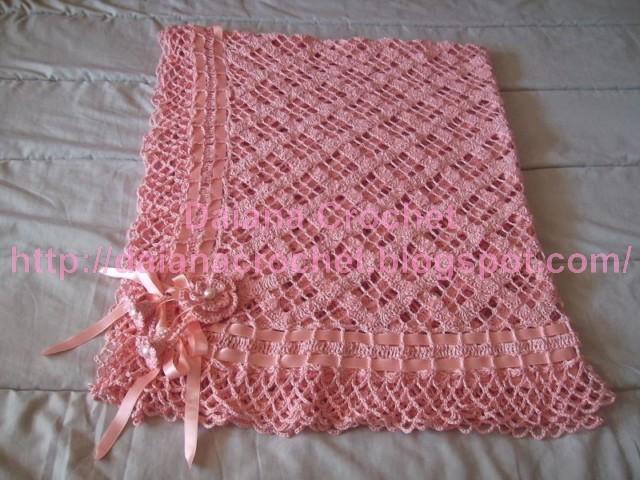 El Crochet de Daiana: Manta de hilo para mi princesa!!!!