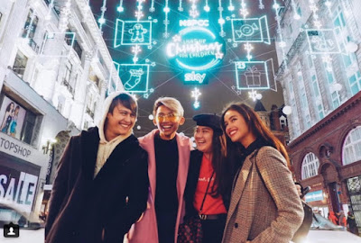 Liza Soberano and Enrique Gil LIZQUEN in London, U.K. on Christmas 2017 with Andie Gil and EJ Nacion
