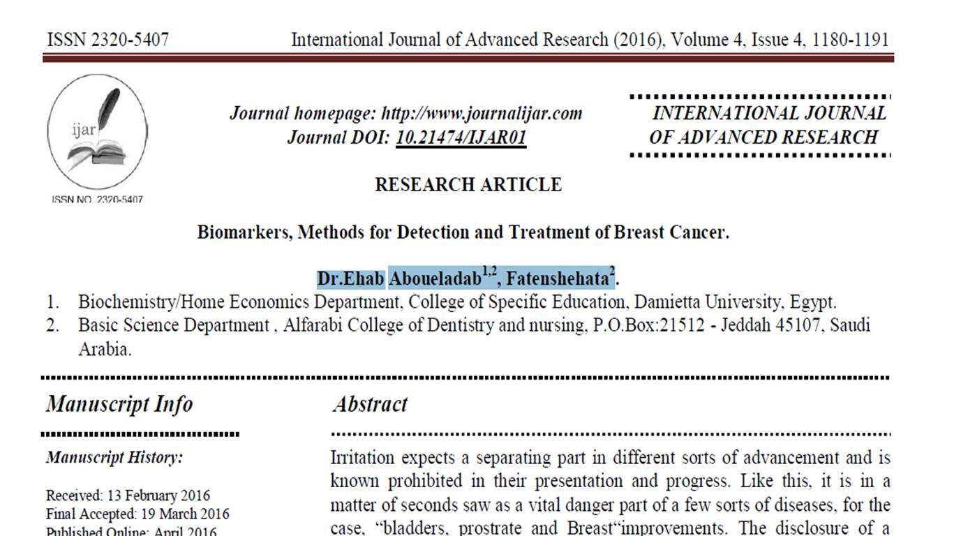 breast cancer research journal articles Journal of clinical oncology (jco) is a high-impact, peer-reviewed medical journal that publishes significant clinical oncology research along with editorials, reviews, and other works that.