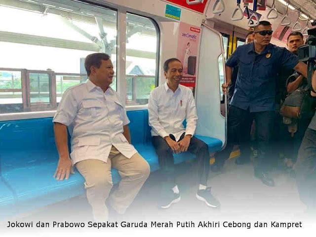 Jokowi dan Prabowo Sepakat Garuda Merah Putih Akhiri Cebong dan Kampret