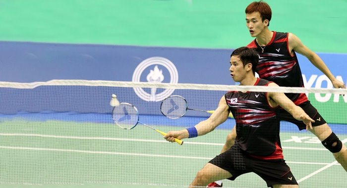 Ko Sung Hyun Shin Baek Cheol Semifinal Bangka Belitung Indonesia Masters 2018