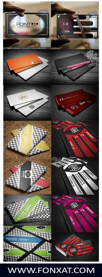 Download collection of various business card PSD