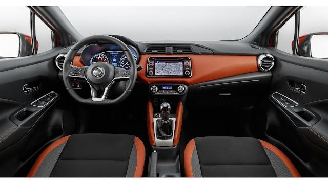 Interior del Nissan Micra 2017