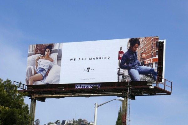7 for all mankind Spring 2018 billboard