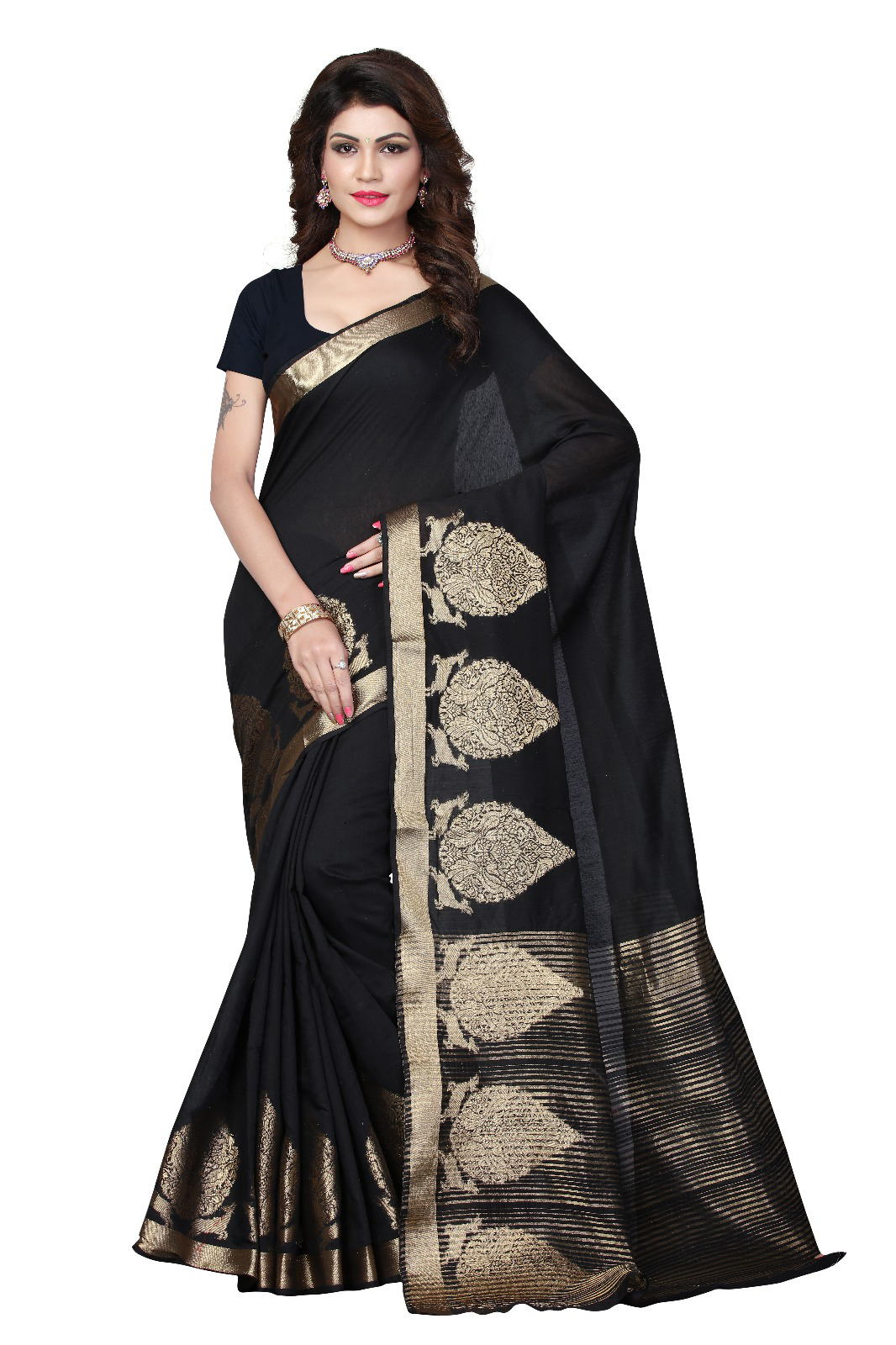 Cotton Weaving Collection Style Printed Saree