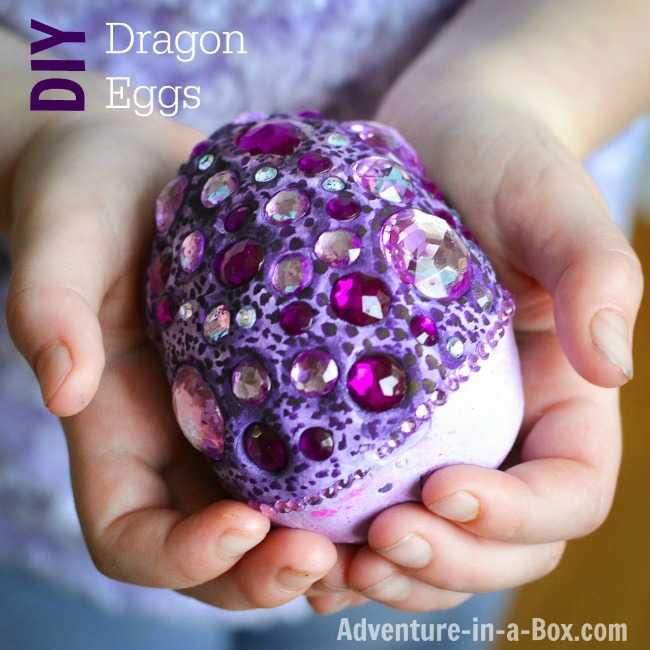 Clay craft ideas for kids. Fantasy dragons egg craft made from air drying clay.