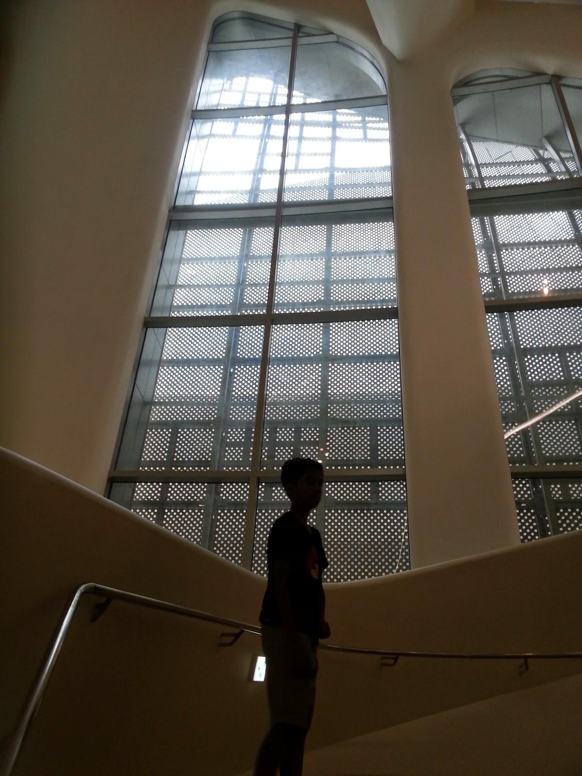 unique windows of the Design plaza in Dongdaemun