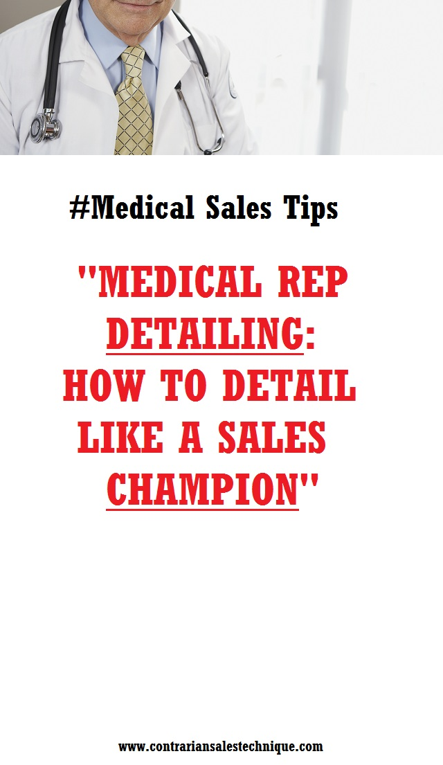 Become medical rep detailing champion