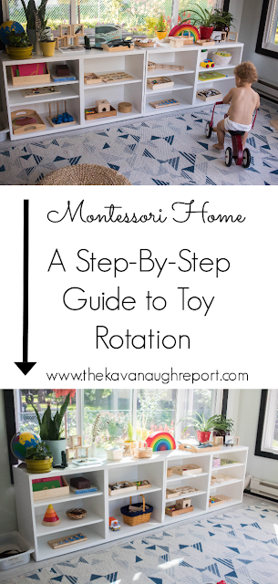 A step-by-step look at how we rotate toys in our Montessori home.