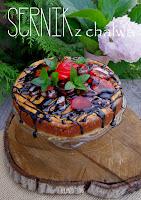 sernik z chałwą. sernik, ciasto, deser