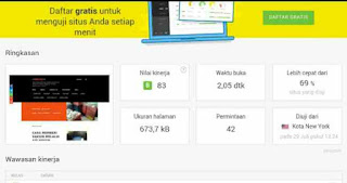 UJI KECEPATAN WEBSITE GRATIS DAN OPTIMIZATION