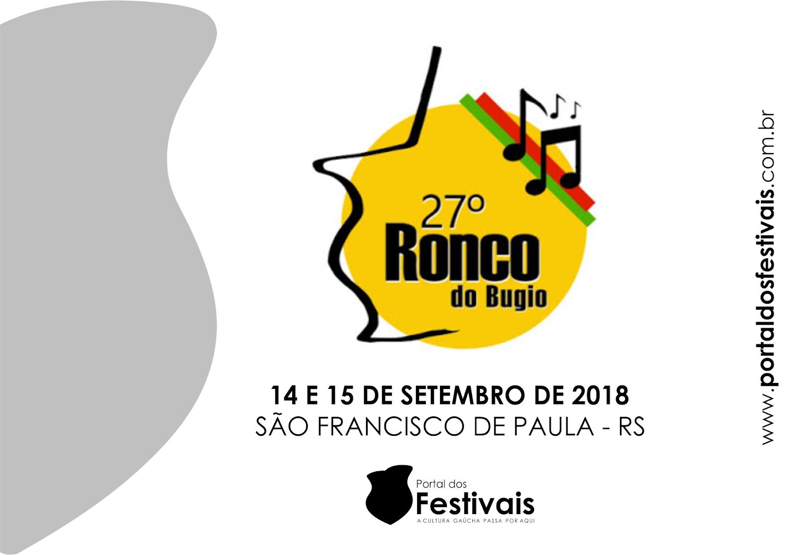 Definidas as concorrentes do 27º Ronco do Bugio, de São Francisco de Paula