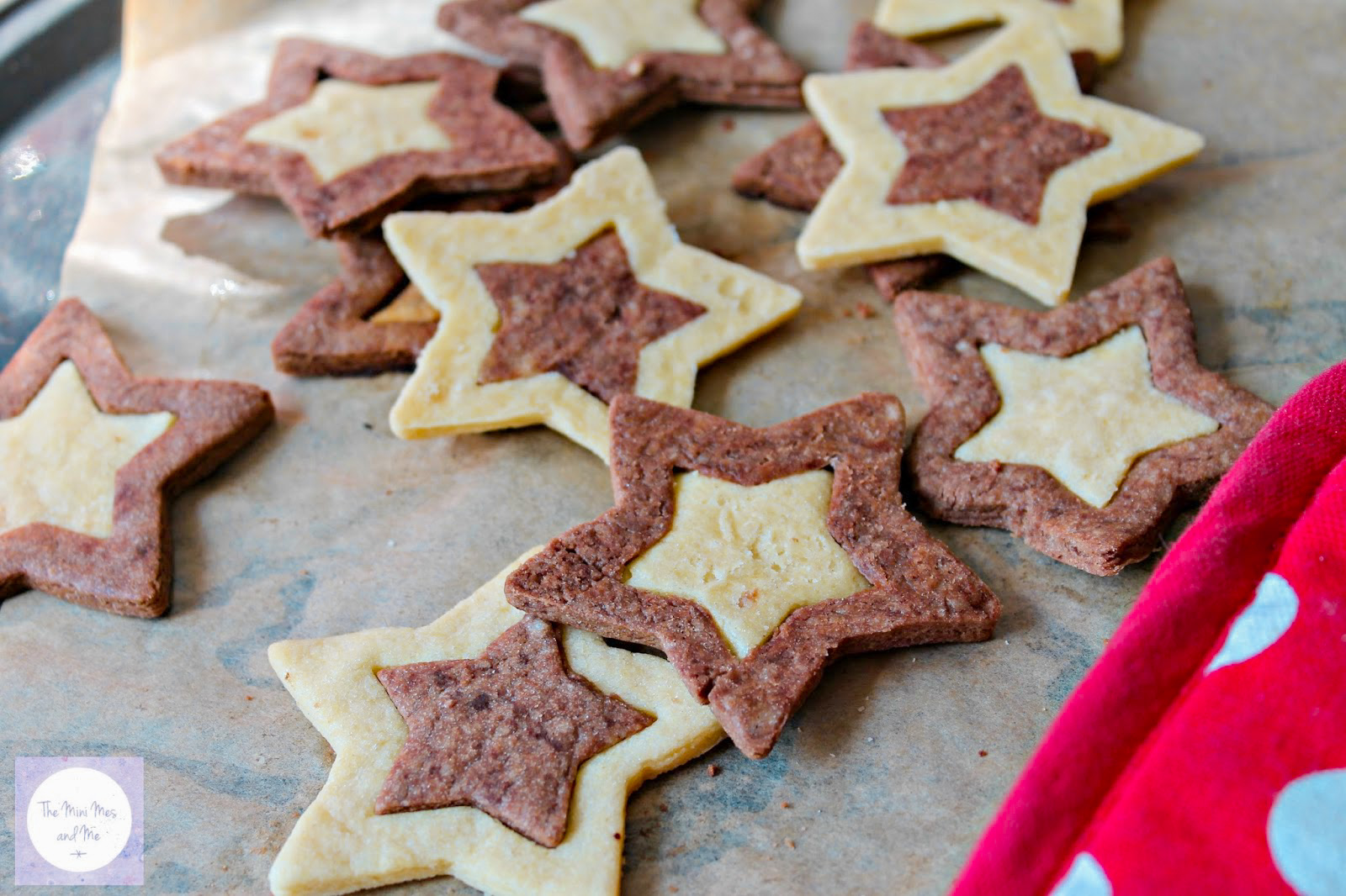 Two Tone Star Biscuits