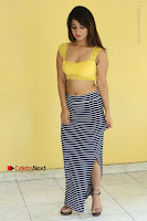Cute Telugu Actress Shunaya Solanki High Definition Spicy Pos in Yellow Top and Skirt  0138.JPG