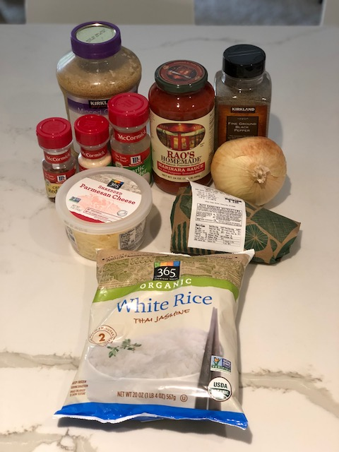 Stuffed Bell Pepper ingredients