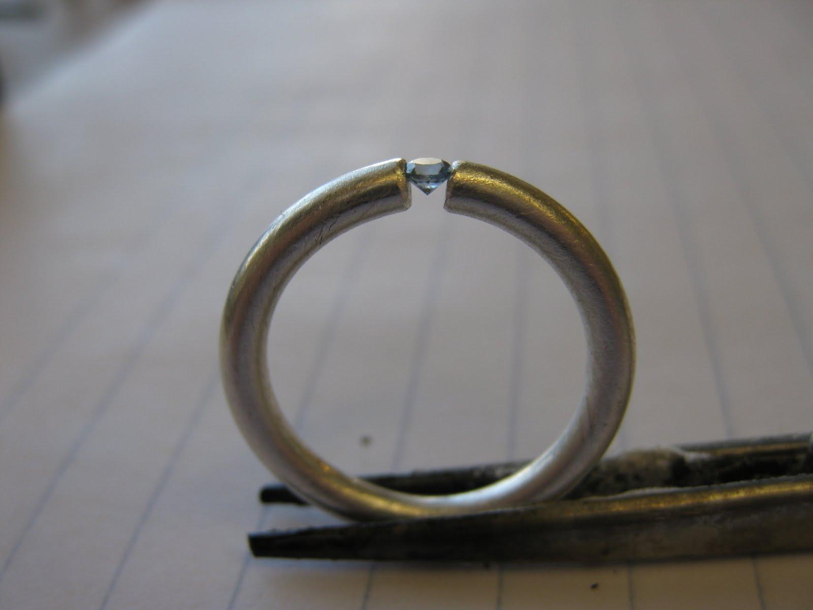 tkmetalarts raw 52 14 tension set ring. Black Bedroom Furniture Sets. Home Design Ideas