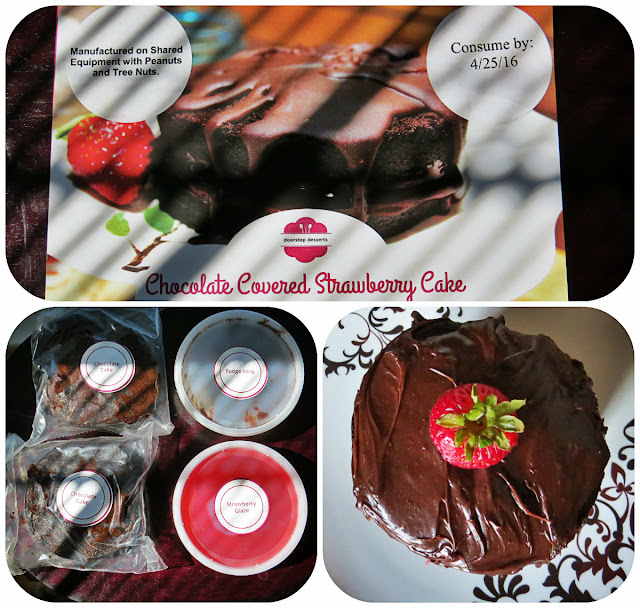 Chocolate Covered Strawberry Cake from Doorstop Desserts