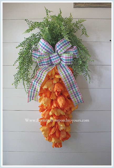 Carrot Tulip Wreath-Tulip Bundles-DIY-Tutorial-Easter-Spring-Home Decor-Front Porch-Cottage-Farmhouse-From My Front Porch To Yours