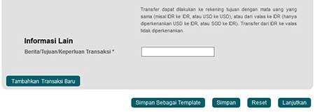 Cara Menambah Berita Transfer di Internet Banking BNI