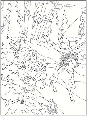 free winter scenes printable coloring pages