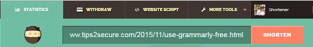 Shorte.st URL shortener