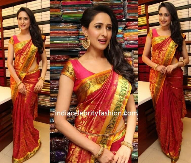 Pragya Jaiswal in Pattu Silk Saree