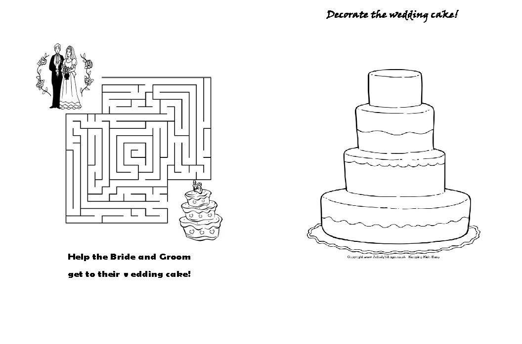 Wedding Coloring Books Template | Coloring Page