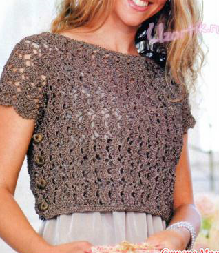 Beautiful blouse on top crochet pattern easy