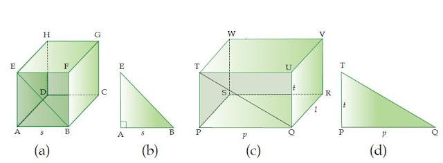 Pengertian Diagonal Bidang dan Diagonal Ruang beserta Rumusnya
