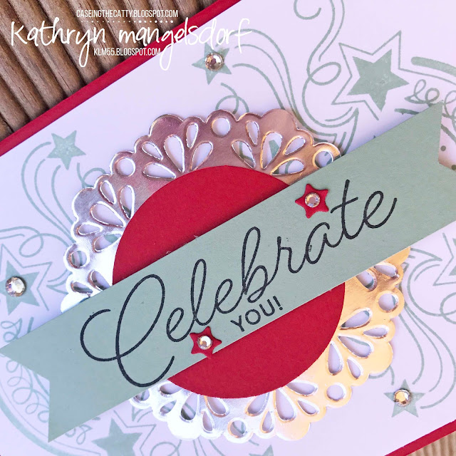 Stampin' Up! Birthday Blast & Star Blast Edgelit Dies, Birthday Card, Pop Up Card created by Kathryn Mangelsdorf
