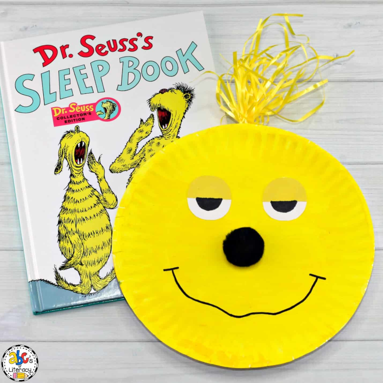 Dr Seuss Activities for Toddlers - Sleep Book craft
