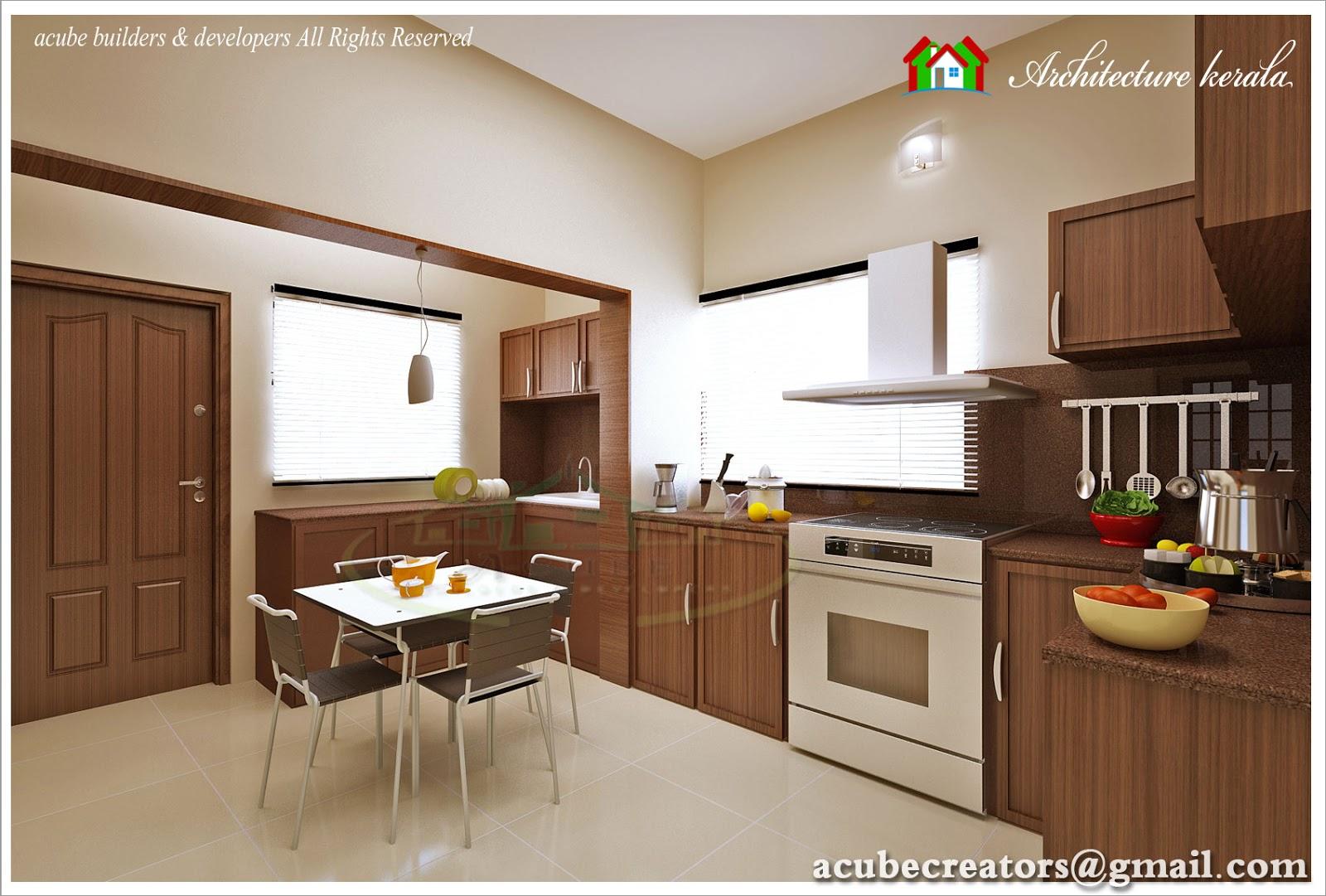 modular kitchen interior design - architecture kerala