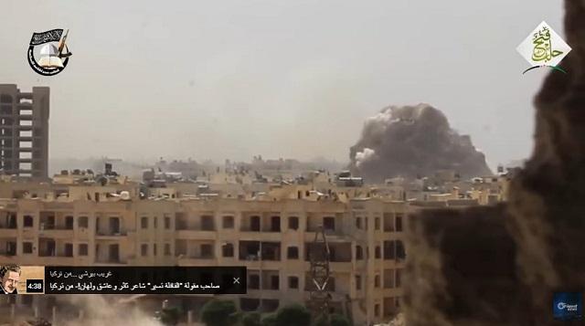 Video: Ledakkan Besar Bantai Sekaligus 50 Milisi Syiah di Aleppo