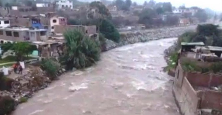 INDECI advierte que aumento de caudal del río Rímac afectaría viviendas en Chaclacayo - www.indeci.gob.pe
