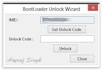 unlock code - flash tool