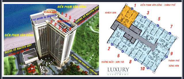 Bố trí căn hộ Luxury Apartment