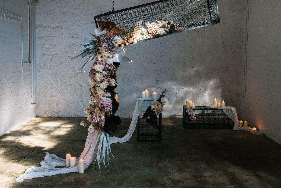 WEDDING FLORALS PERTH FLOWERS INSTALLATION JESSICA JOSIE PHOTOGRAPHY