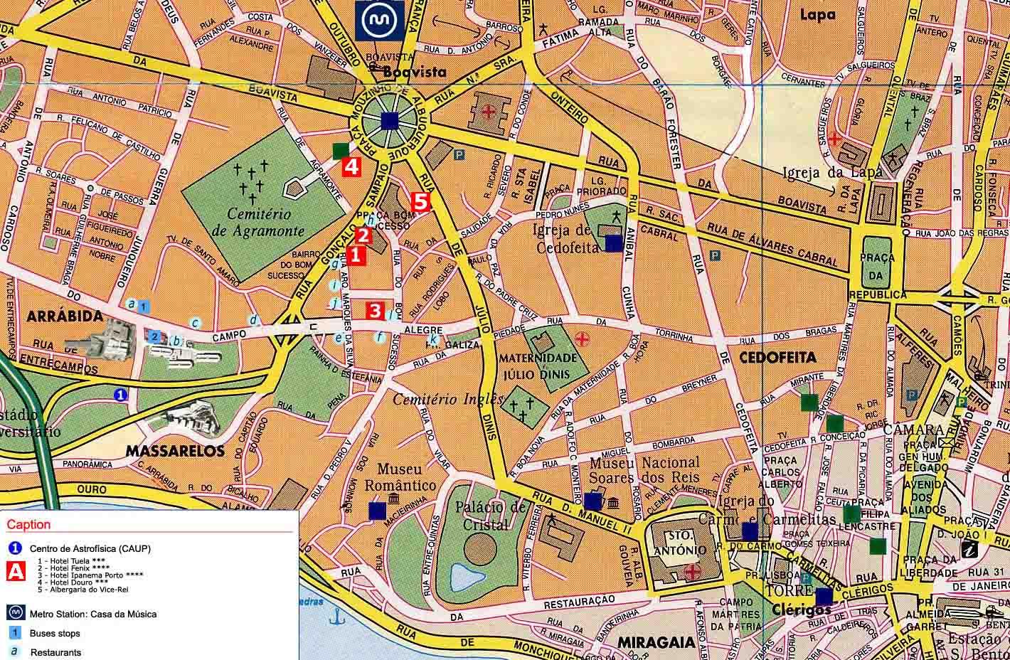 mapa de porto portugal Mapas de Porto   Portugal | MapasBlog mapa de porto portugal