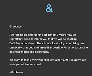 The last message from bubblews