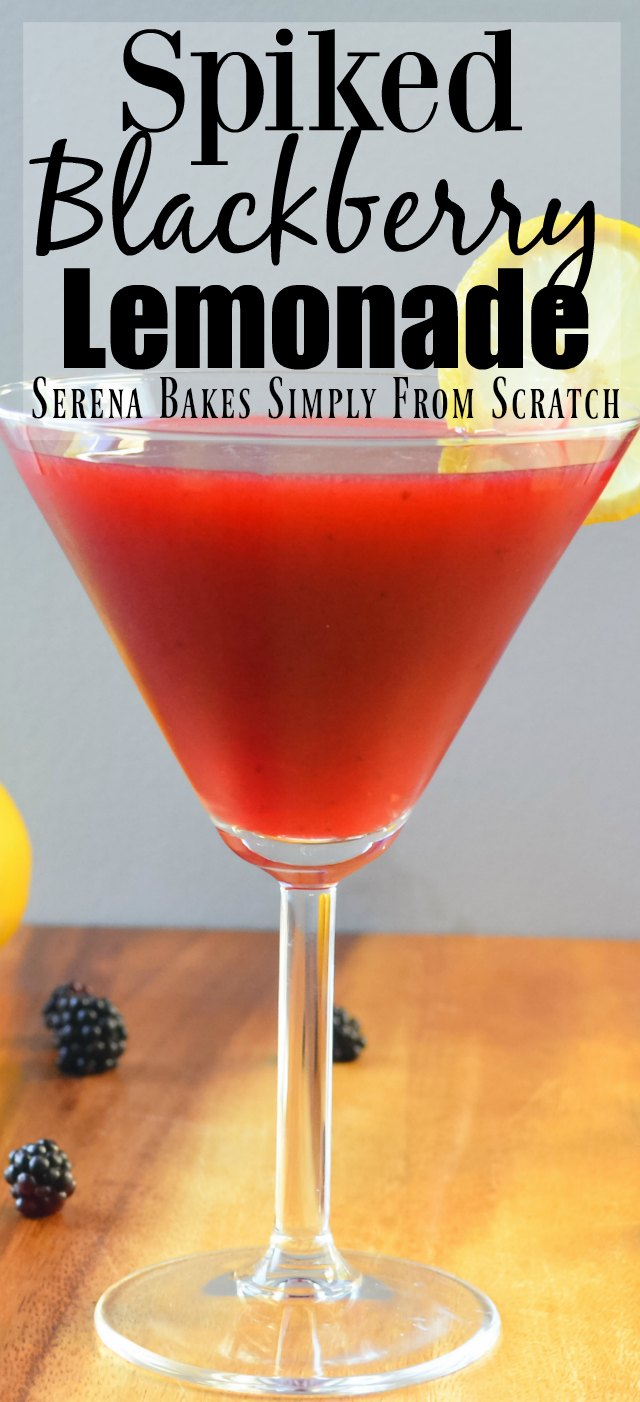 Spiked Blackberry Lemonade from Serena Bakes Simply From Scratch
