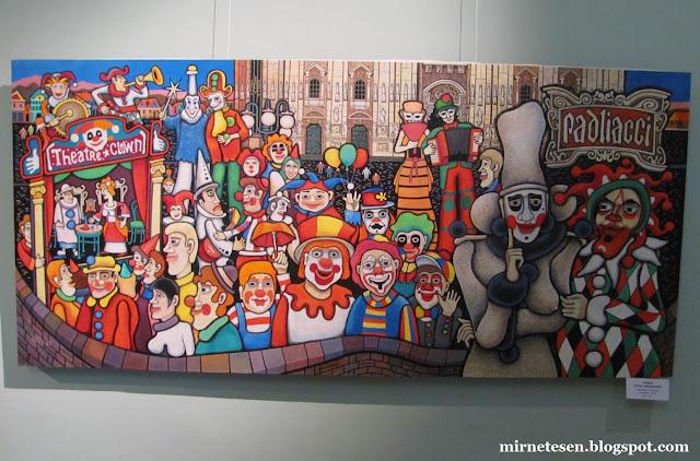 Томский художественный музей - Фестиваль клоунов в Милане, Б. Фомин