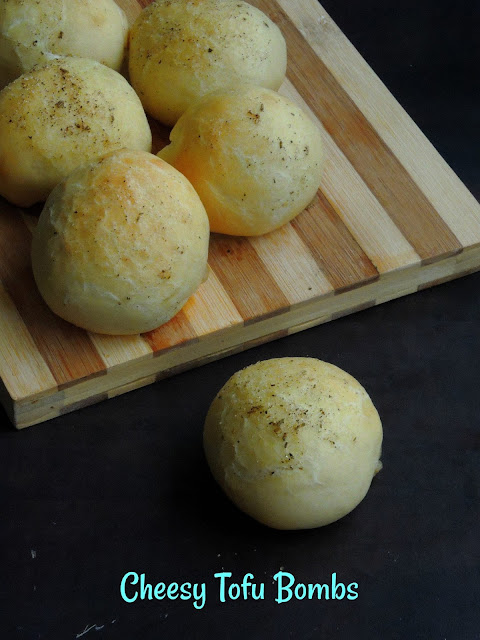Cheese Tofu Bombs, Eggless Tofu Cheese Bombs