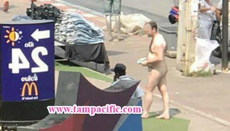 Du khách thỏa thân ở thành phố Pattaya bị bắt sau một đêm thác loạn