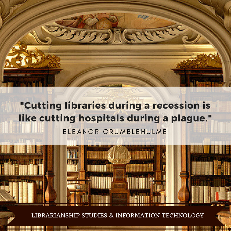 Cutting libraries during a recession is like cutting hospitals during a plague