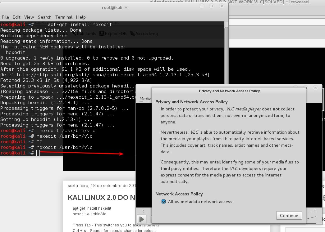 vi4nn4network: KALI LINUX 2 0 DO NOT WORK VLC[SOLVED]