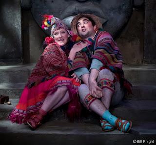 The Magic Flute, Matthew Kellett as Papageno and Jennifer Begley as Papagena (Photo Bill Night)