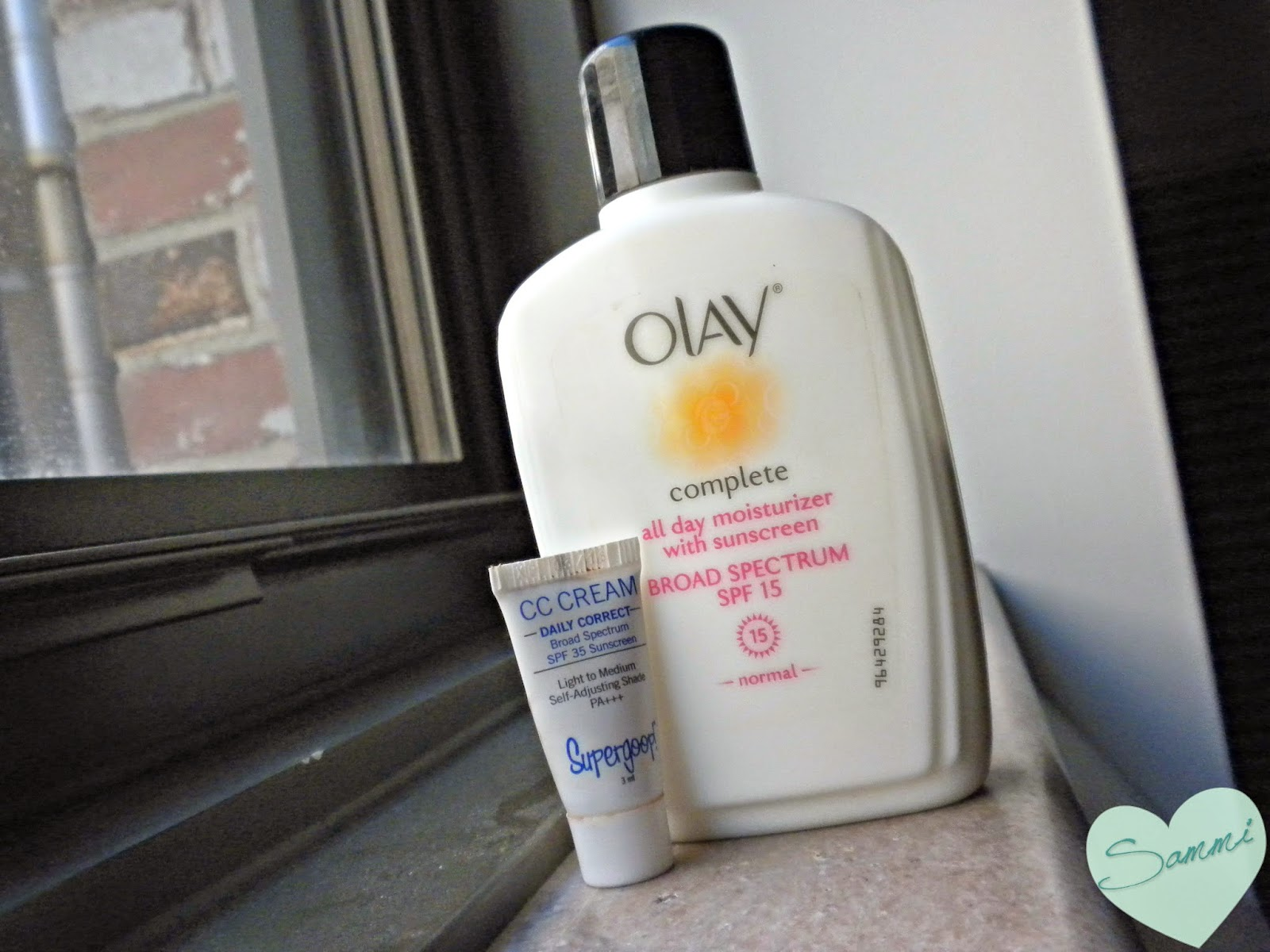 OLAY Complete All Day Moisturizer with SPF 15 ($8 for 4oz) and SUPERGOOP! CC Cream SPF 35 in Light to Medium ($32 for 1.6oz)