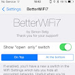 BetterWifi7 Cydia App For iPhone - Add Enhanced Wifi Features To Your iPhone