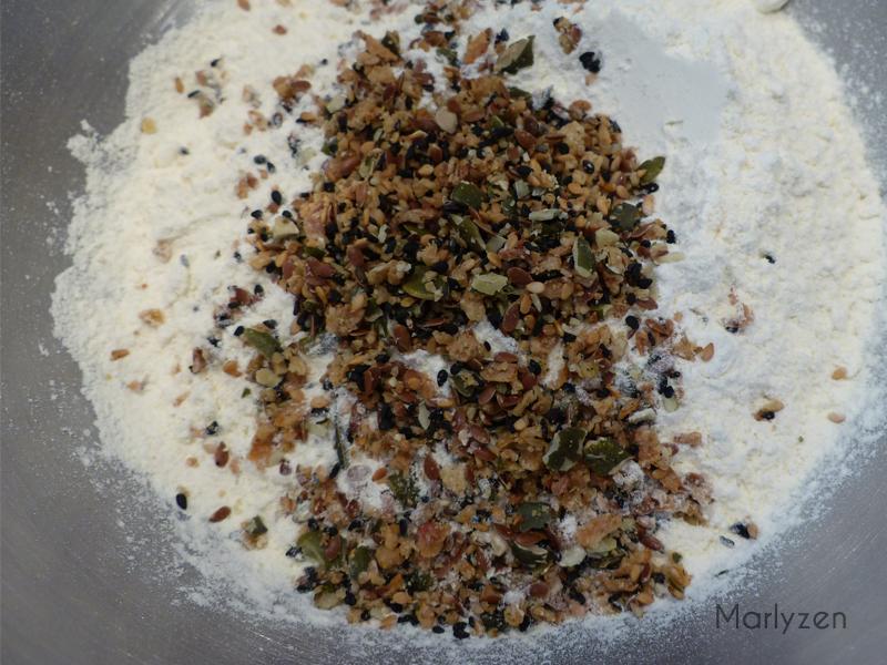 Farine, graines, sel