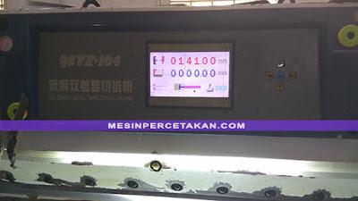 Mesin potong kertas digital QZYX 104